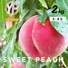 【ふるさと納税】【とろける甘み】YAMANASHI PRIDEプレミアムピーチ 完熟桃約2kg (5~8個)<出荷時期:2021年7月1日〜9月10日>【 フルーツ もも 山梨県 山梨市 】