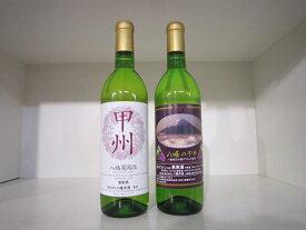【ふるさと納税】山梨市産白ワイン2本セット