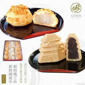 【ふるさと納税】新府焼ごめ・新府城最中15ケ入
