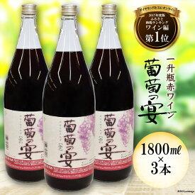 【ふるさと納税】ワイン セット 一升瓶 3本 山梨「葡萄の宴」