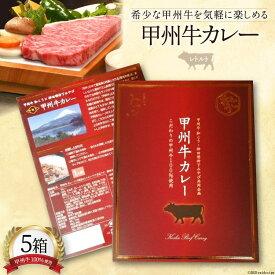 【ふるさと納税】甲州牛 カレー 5箱