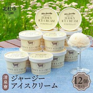 【ふるさと納税】 アイスクリーム アイス プレミアムアイスクリーム 有機ジャージー牛乳 「有機JAS規格」認定 清泉寮 12個 送料無料