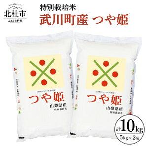 【ふるさと納税】 米 R2年度米 特別栽培米 武川町産 つや姫 5kg×2袋 山梨県北杜市 送料無料
