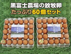 【ふるさと納税】黒富士農場の放牧卵たっぷり60個セット(甲斐B-29)