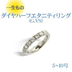 【ふるさと納税】AD-148 「一生もの」 ダイヤハーフエタニティリング(G.VS)