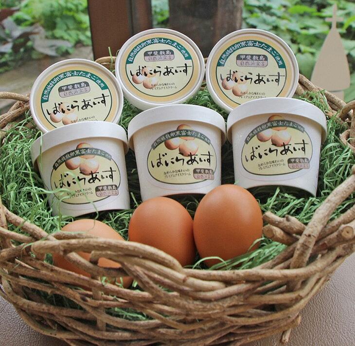 【ふるさと納税】黒富士農場特製バニラアイスクリーム 6個セット(甲斐B-18)