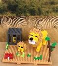 【ふるさと納税】ミクブロ2(micblo2)ライオンの親子