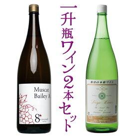 【ふるさと納税】一升瓶ワイン2本セット 山梨のワイン