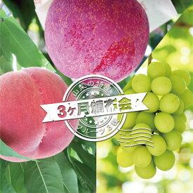 【ふるさと納税】定期便 山梨の特産フルーツ3ヶ月頒布会※2020年7月〜9月頃発送予定