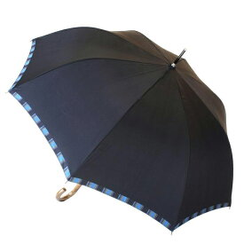 【ふるさと納税】槙田商店【紳士雨傘】長傘 Tie Plain×Stripe 濃紺   傘 メンズ 大きい 紳士傘 おしゃれ かさ 雨具 高級 日本製 国産 ビジネス ネイビー 男性 送料無料 ギフト プレゼント 父の日 誕生日 敬老の日