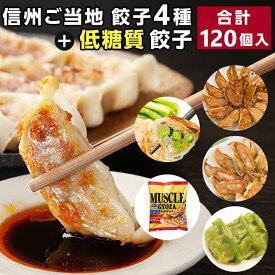 【ふるさと納税】信州ご当地餃子4種&マッスルギョーザセット 合計120個!