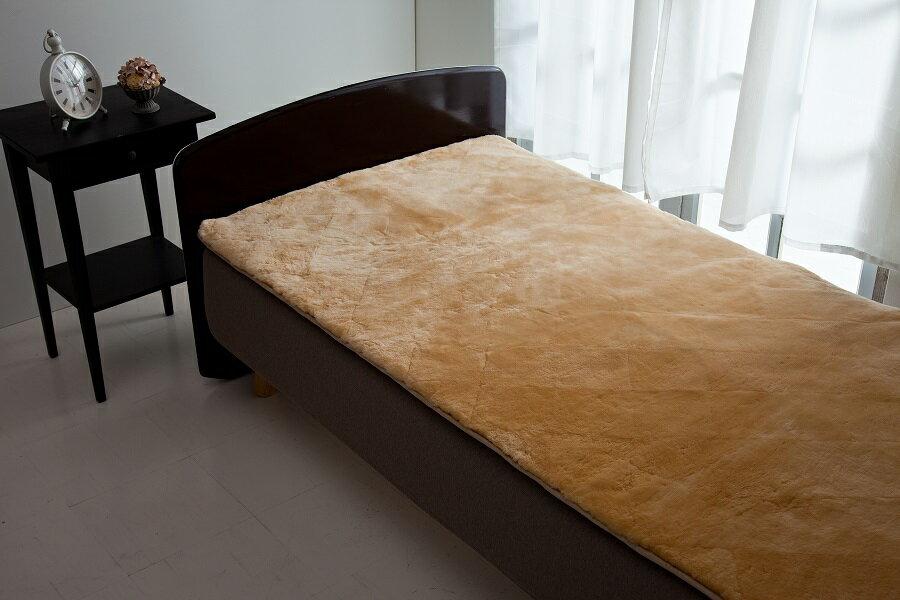 【ふるさと納税】500-001信州上田製ムートン(羊毛皮)シーツ 毛長25mm シングルサイズ