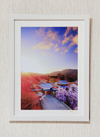 【ふるさと納税】120-005信州上田癒しの風景 写真家岡田光司 全紙サイズ額付きオリジナルプリント