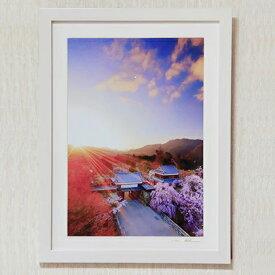 【ふるさと納税】014-013信州上田癒しの風景 写真家岡田光司 2Lサイズ額付きオリジナルプリント