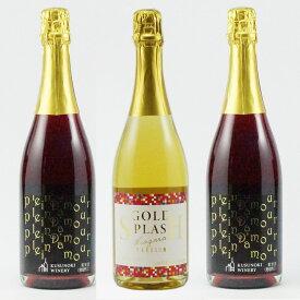 【ふるさと納税】スパークリング2種 3本セット 【ワイン・お酒・赤ワイン・白ワイン・ナイアガラ・ロゼ・詰め合わせ】