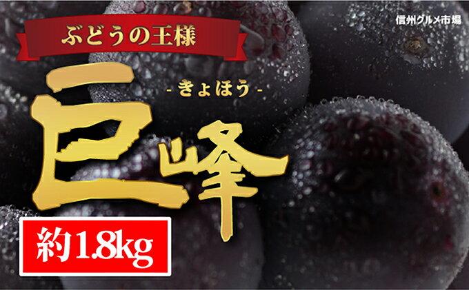 【ふるさと納税】☆先行予約【人気のブドウ】巨峰 約1.8kg(3〜5房) 【果物・ぶどう・フルーツ】 お届け:2019年9月10日〜10月15日
