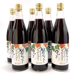 【ふるさと納税】≪ノンアルコール飲料≫山ブドウとクロフサスグリ(カシス)720ml×6本セット《楠わいなりー》【果実飲料・ジュース・ブドウ・葡萄・詰め合わせ】