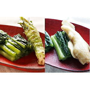【ふるさと納税】野沢菜「早太郎漬けセット」 【発酵食品】
