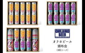 【ふるさと納税】オラホビール頒布会(3回コース) クラフトビール 飲み比べ