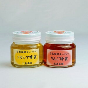 【ふるさと納税】自家採取生ハチミツ【アカシア蜂蜜300g、りんご蜂蜜300g】セット【1100341】