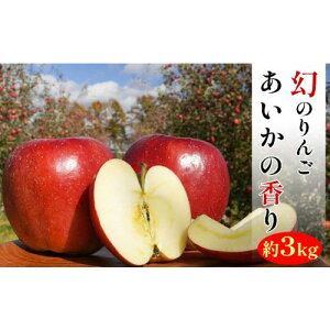 【ふるさと納税】幻のりんごあいかの香り約3kg 【果物類・林檎・りんご・リンゴ】 お届け:2019年11月15日〜2020年1月15日