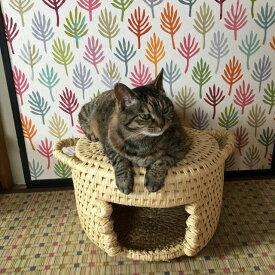 【ふるさと納税】【つぐらクラフト】猫のこしかけ 猫つぐら ねこつぐら わら細工 ねこちぐら ちぐら