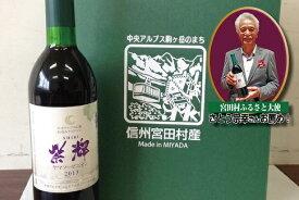 【ふるさと納税】山ぶどうワイン2018「紫輝」1本と宮田産菓子セット