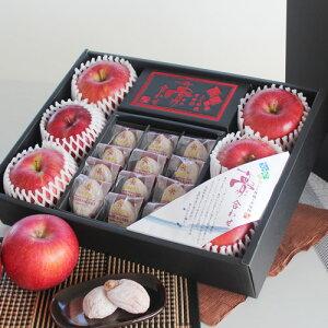 【ふるさと納税】信州の特産品りんごと市田柿の詰め合わせ【夢合わせ】※12月中旬〜1月下旬頃に順次発送予定※着日指定はできません。沖縄・離島への発送不可。