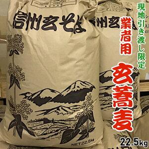 【ふるさと納税】玄蕎麦(そばの実殻付き) 長野県産信濃1号 大量22.5kg! 現地引き渡しでお得!
