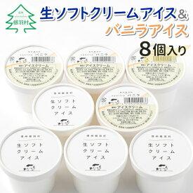 【ふるさと納税】食べ比べ!生ソフトクリームアイス&バニラアイスクリーム 8個セット
