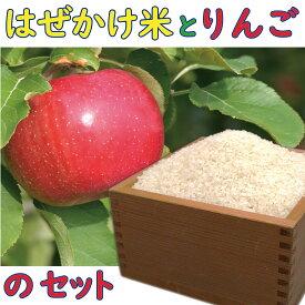 【ふるさと納税】 はぜかけ米 と りんご の詰め合せ セット 信州麻績村 はぜかけ米 新米 2kg 令和2年度 長野県