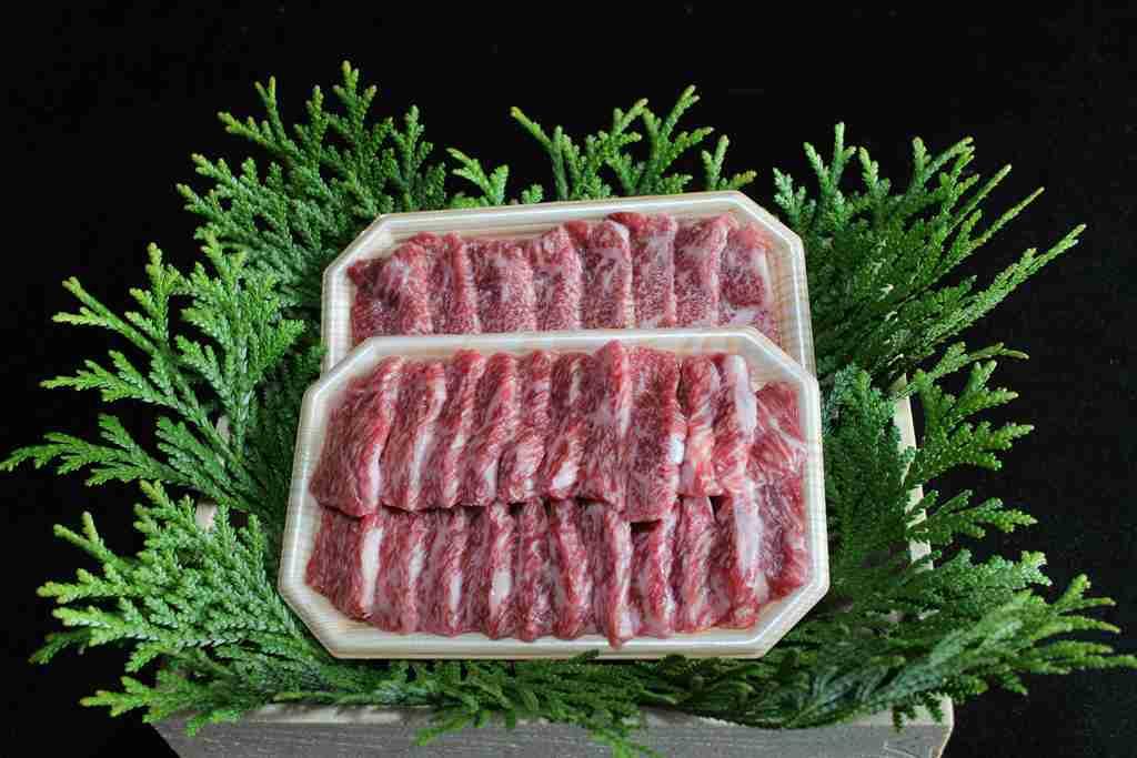 【ふるさと納税 長野】麻績産極上黒毛和牛リブロース焼肉ス200g×2パック