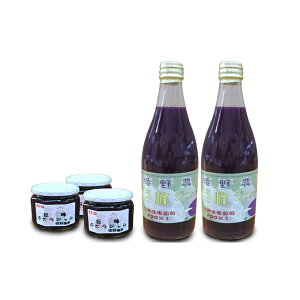 【ふるさと納税】姫野農園の巨峰ジュース2本とジャム3本 【果汁飲料・野菜飲料・ぶどうジュース・ブドウ・ジャム】