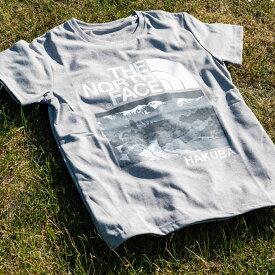 【ふるさと納税】B014-11 THE NORTH FACE 白馬オリジナルTシャツ ウィメンズ グレー Mサイズ (2019モデル)