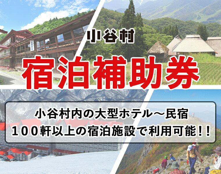小谷村宿泊補助券10,000円分 【ふるさと納税】旅してみよう!小谷村へ