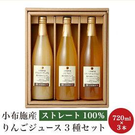 【ふるさと納税】 小布施産りんごジュース3種セット