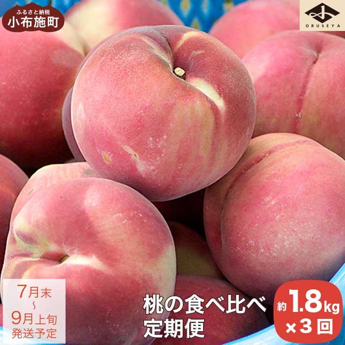 【ふるさと納税】小布施町 桃食べ比べ定期便コース