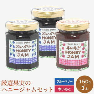 【ふるさと納税】厳選果実のハニージャムセット(ブルーベリー、木いちご)