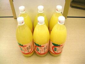 【ふるさと納税】ストレート飛騨りんごジュース1L×6本箱詰め。何も足さないピュアな逸品をどうぞ。 b549