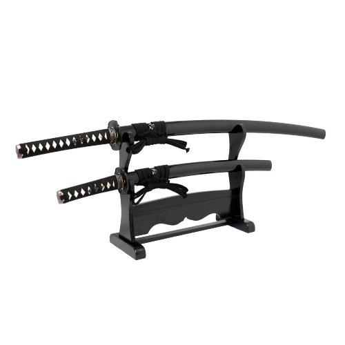 【ふるさと納税】H54-05 模擬刀 和泉守兼定写し 大小拵(掛台付き)