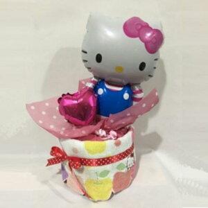 【ふるさと納税】キャラクターバルーンおむつケーキ 1段タイプ(キティ)  S12-13