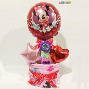 【ふるさと納税】キャラクターバルーンおむつケーキ 2段タイプ(ミニー)  S20-02