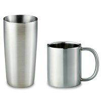 ステンレスマグカップ(300ml)、真空タンブラー(440ml)セットH5-97