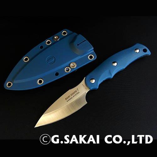 【ふるさと納税】H25-27 サビナイフ1 直刃 ブルー