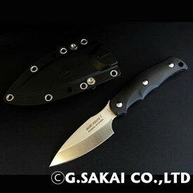 【ふるさと納税】H30-29 サビナイフ1 直刃 ブラック