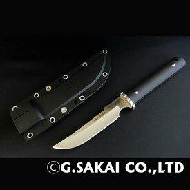 【ふるさと納税】サビナイフ5ワイルドハンター直刃(ブラック)  H47-01