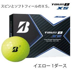 【ふるさと納税】TOUR B XS ゴルフボール イエロー 1ダース (ゴルフボール / ブリヂストン・スポーツ) T18-07