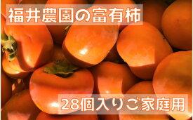 【ふるさと納税】[柿の王様]福井農園の富有柿ご家庭用M・Lサイズ(28個) [0150]