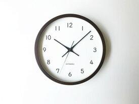 【ふるさと納税】KATOMOKU ウォールナットの木枠電波時計