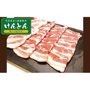【ふるさと納税】【飛騨・美濃けんとん】けんとん豚バラ焼肉用計1kg 【お肉・豚肉】